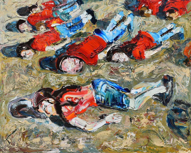 Empathy-Bearing-Witness-2017 oil painting fine art laurence jansen