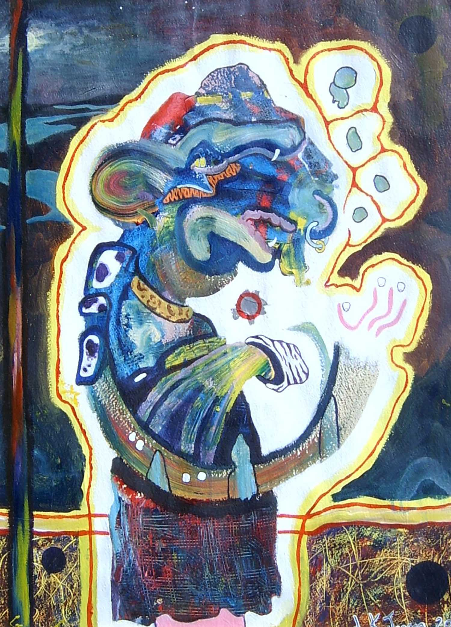 Rollands Kilt. acrylic on canvas. 70x60cm.1500ppi.4web