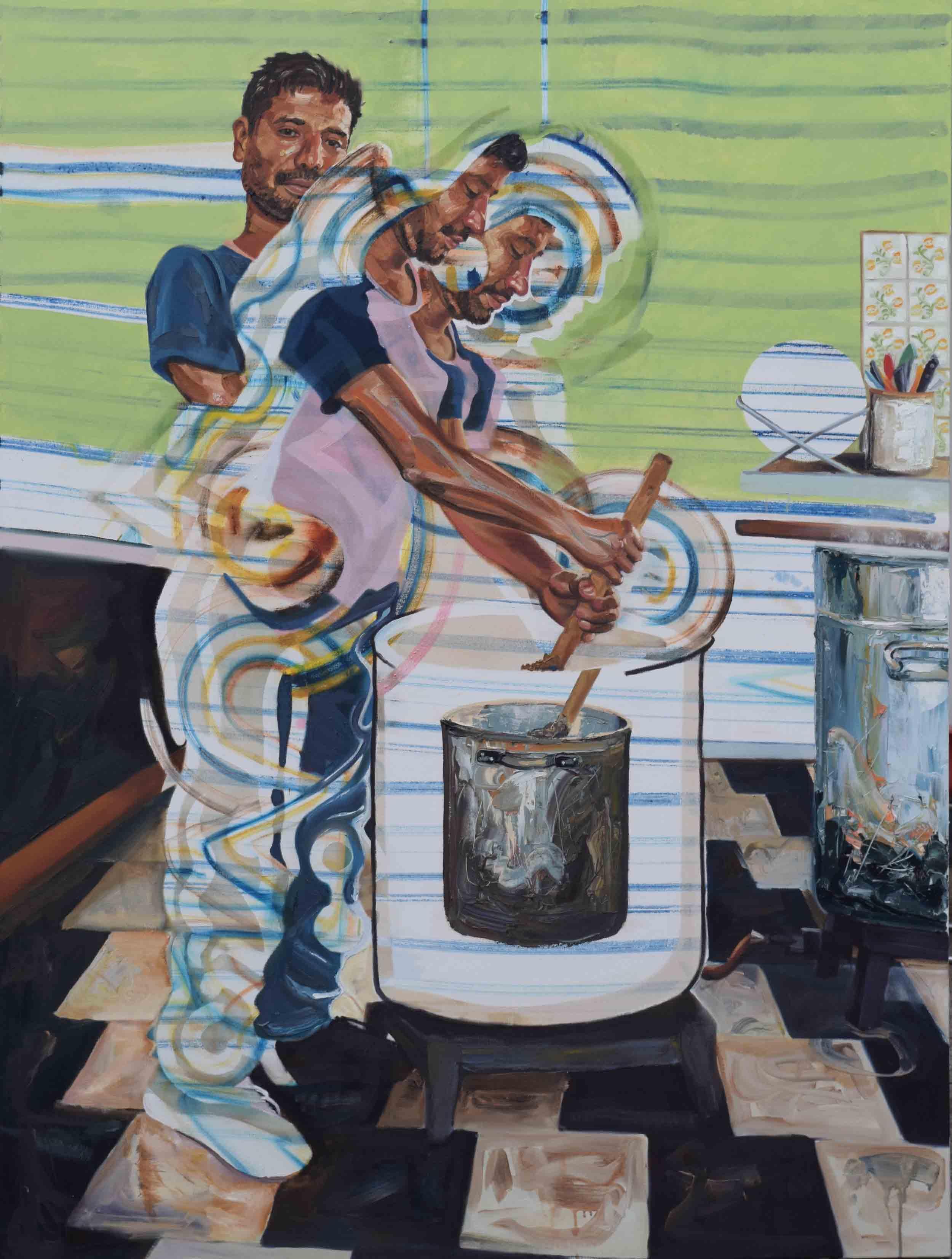 laurence jansen, Disorient, 2018, oil on canvas, 203x152cm, art, figurative painting, laurence jansen artist, contemporary art, contemporary painting, london artist, oil painting,