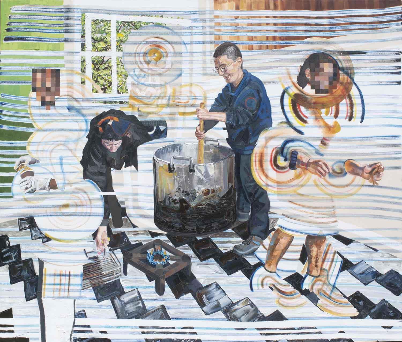 Identity Dynamism. 2019. oil on canvas. 170x200cm.200kb, laurence jansen, figurative art, contemporary art, painting, oil on canvas, london artist, contemporary figurative painting, art,