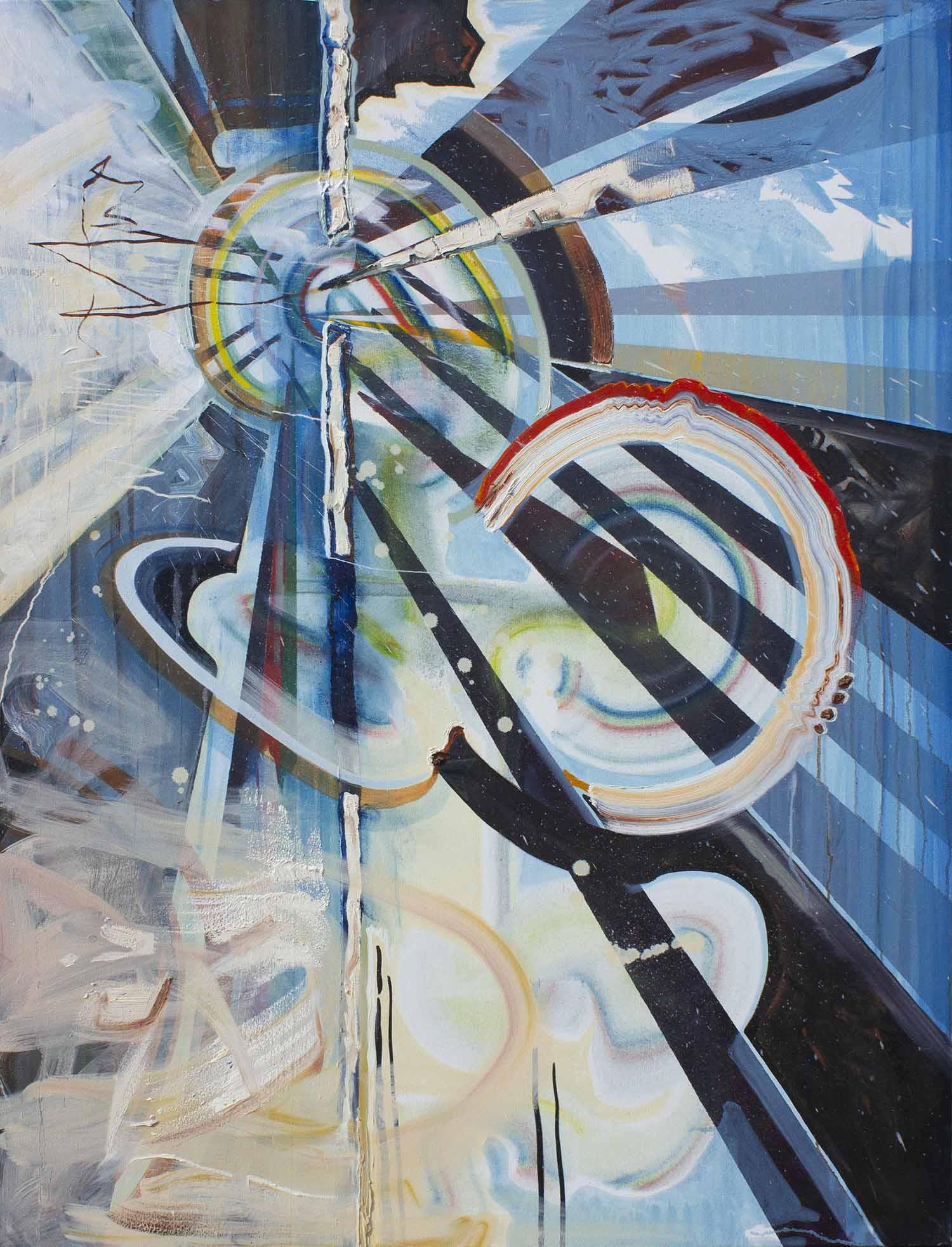 Violent Expansion,2019,oil on canvas, 152x101cm,4 web